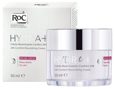 Roc Roc Hydra+ 24H Comfort Besleyici Bakım Kremi 50 ml Renksiz